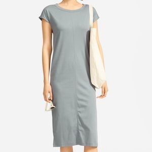 Everlane Luxe Cotton Side-Slit Tee Dress